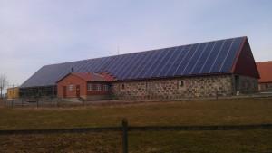 Nästan alla solpaneler är på plats