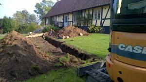 Nytt avlopp grävs